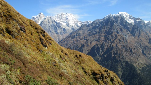 Nepal-Blick-auf-Mera-Peak