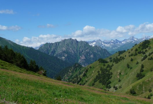 Kaukasische Berglandschaft