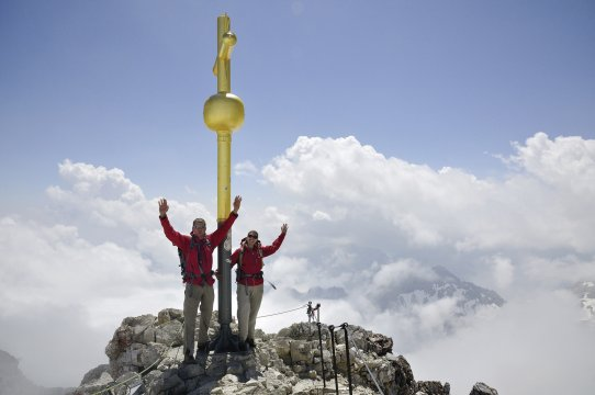 Klettersteig Deutschland : Deutschland zugspitze Über das höllental und den gipfel