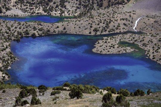 Alaudin-See im Fan-Gebirge