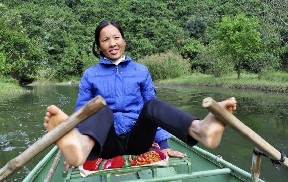 Durch die Trockene Halong Bucht