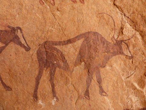 Ausdrucksstarke Felsmalereien - Jahrtausende alt