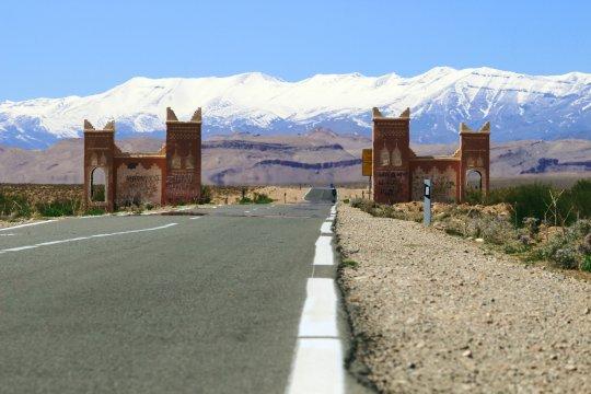 Blick auf das Mgoun Gebirge mit Tor