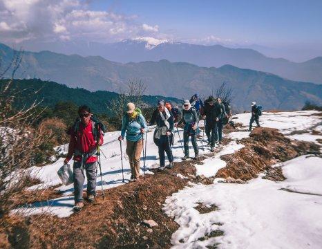 Gruppe auf dem Climate Trek