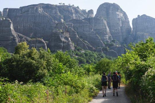 Wanderung zum Meteora-Kloster