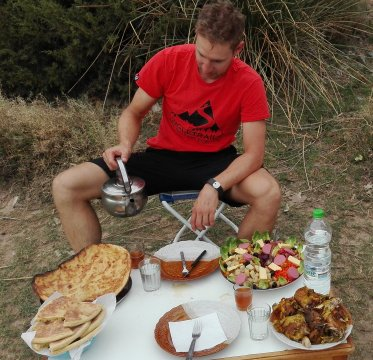 Marokko-MTB-Mittagessen