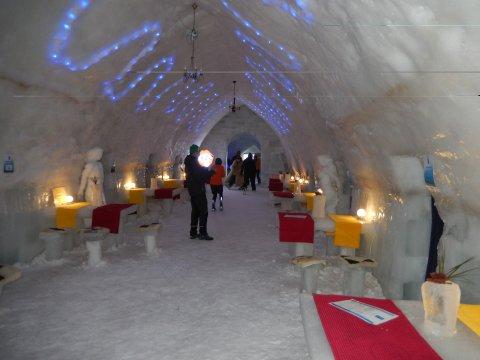 Im Eishotel neben Balea Lac
