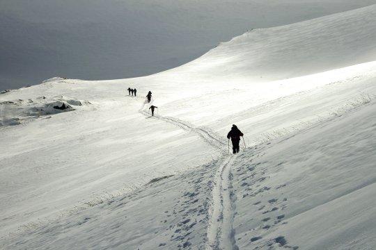 Skiaufstieg Tezhler Armenien