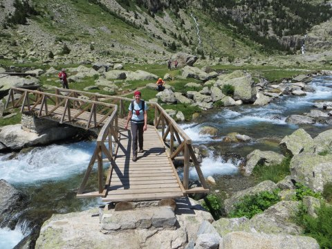 Talwanderung in den Pyrenäen