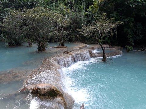 Tad Sae Wasserfall in Laos