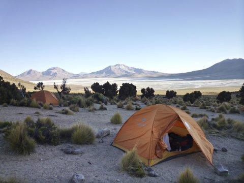 Camp am Cerro Rojo