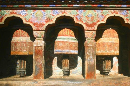 Gebetsmühlen in Bumthang