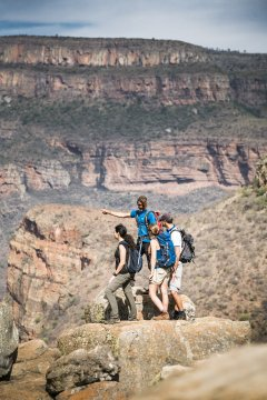 Wandergruppe am Blyde River Canyon