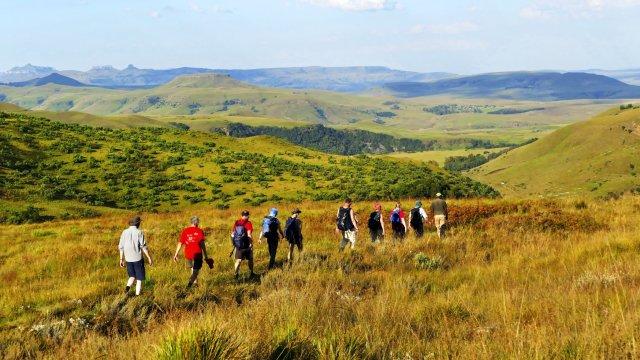 Gruppen-Wanderung in den Drakensbergen