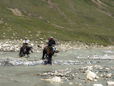 Durchquerung in Kirgistan