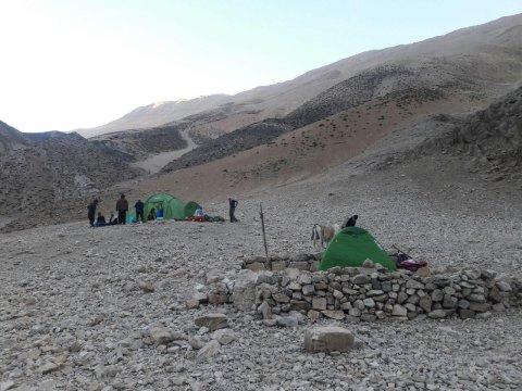 Zeltlager im Zagros Gebirge