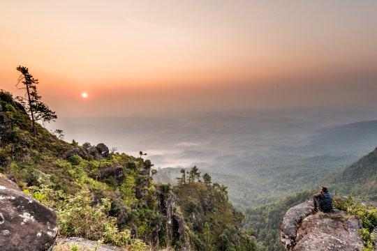 Sonnenuntergang am Phu Ya Ka