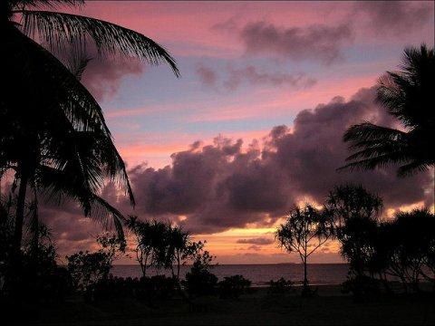 Sonnenuntergang am Strand von Ngwe Saung