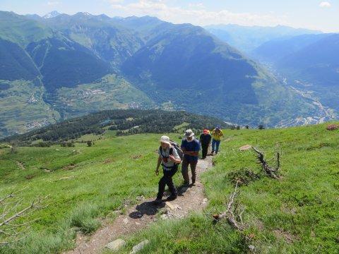 Wanderpfad mit Panorama in den Pyrenäen