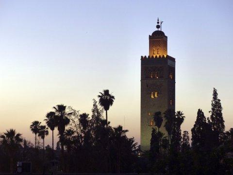 Marrakech -  Abendstimmung an der Koutoubia Moschee_2