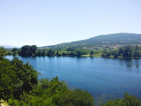 Fluss Minho an der Grenze zu Spanien