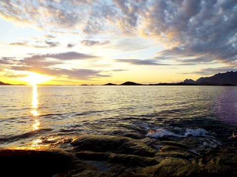 Mitternachtssonne Nord-Norwegens