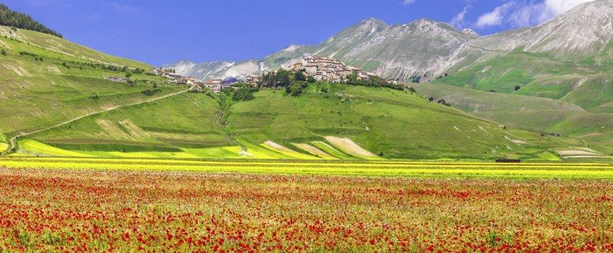 Ausblick auf Castelluccio di Norcia