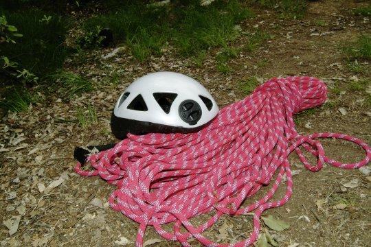 Helm und Seil