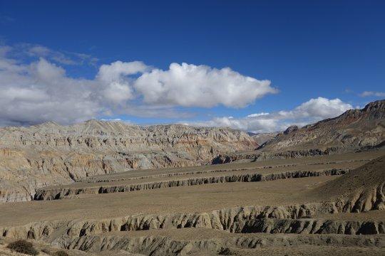Landschaft in Upper Mustang nahe Yara