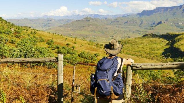 Blick auf Drakensberge Royal Natal NP