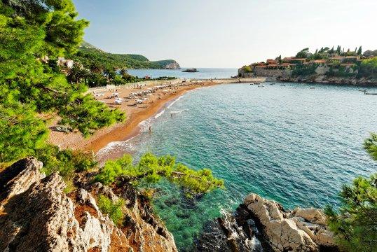 Strand von Sveti Stefano