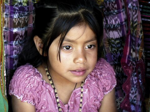 Mädchen in Guatemala