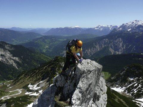 Uebungsklettersteig Alpspitze