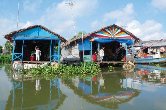 Schwimmendes Dorf Long Xuyen