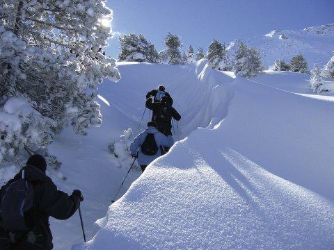 Aufstieg mit Schneeschuhen