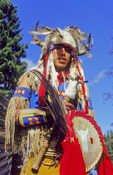 Alberta Banf National Park Native in Tracht