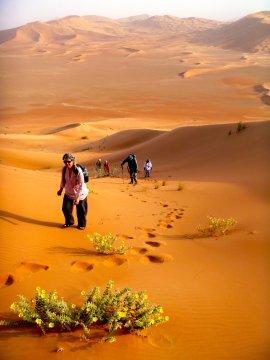 Dünenwanderung Rub al-Khali