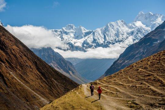 Trekker auf der Manaslu-Runde