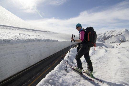 Japanische Alpen Murodo Tateyama Alpine Road Snow Wall Skitour_2