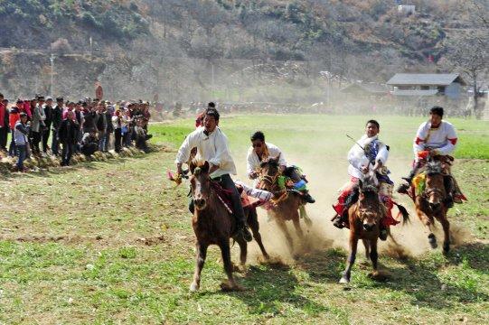 Tacheng: Tibetisches Pferdefest