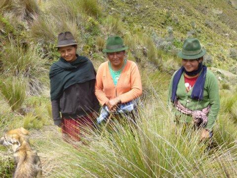 Indo Frauen am Quilotoa