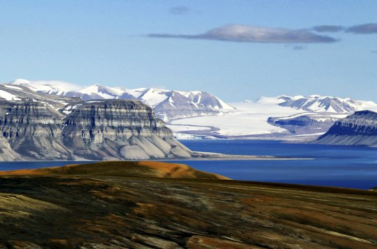 Blick auf Sassenfjorden