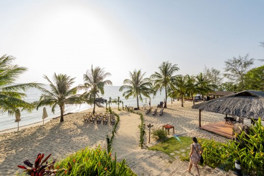 Eco Beach Resort Weg zum Strand