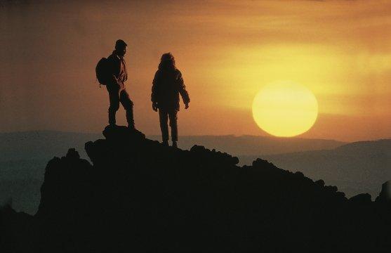 Sonnenuntergang auf dem Kilimanjaro