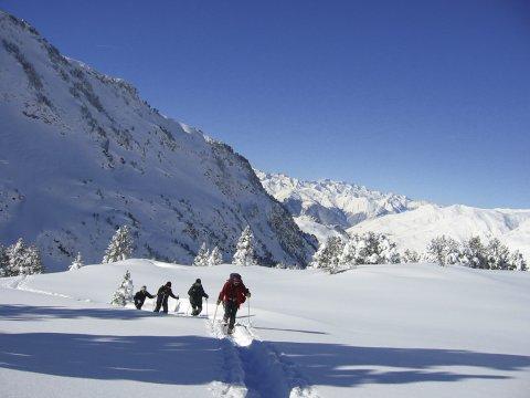 Aufstieg mit Schneeschuhen 2