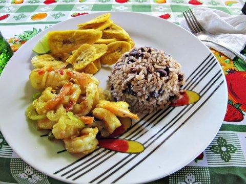 Typisches Essen Karibische Kueste
