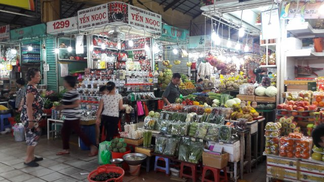 Markthalle in Saigon