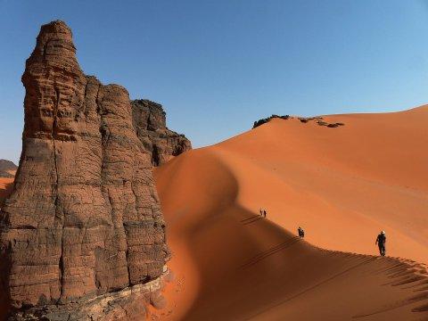 Dünenwandern im Tadrart - Der Weg ist das Ziel