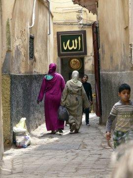 Fès -  Altstadtgassen in der Medina_2