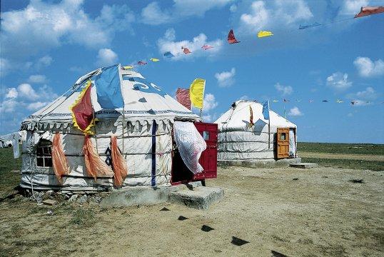 Yurtenlager bei Hohot in der Inneren Mongolei 2